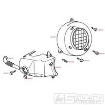 E01 Kryt ventilátoru / kryt válce - Kymco Super 9 AC 50