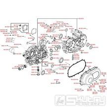 E01 Kliková skříň a kryt variátoru - Kymco MXU 500 IRS LOF