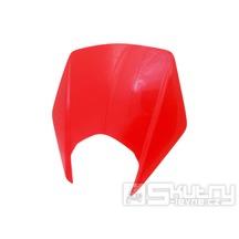 Přední maska světlometu červená pro Derbi Senda 2011- a Gilera RCR, SMT
