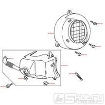 E01 Kryt válce / Kryt ventilátoru - Kymco Super 9 AC 50 [Sports]