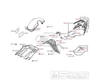 F17 Zadní světlo a zadní blatník - Kymco Grand Dink 125i SP25AA