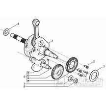 1.06 Kliková hřídel - Gilera Fuoco 500ccm 4T-4V ie E3 LT od 2013 (ZAPM83100...)