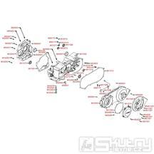E01 Kryt variátoru / Skříň klikové hřídele - Kymco Maxxer 300