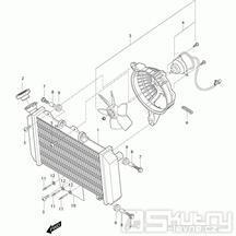 03 Vodní chladič / Ventilátor - Hyosung GT 650i N (Naked)