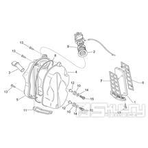 28.23 Airbox vzduchového filtru - Scarabeo 50 2T (motor Minarelli) 1998 - ZD4PF00/1/2/3, ZD4PFA/B/C/D/E