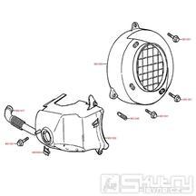 E01 Kryt ventilátoru / Kryt válce - Kymco Top Boy 50 (COBRA)