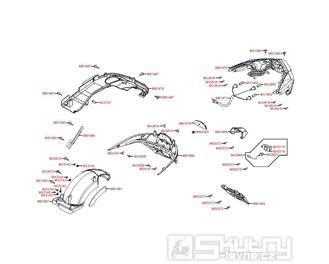 F17 Zadní světlo a blatník - Kymco Downtown 300i ABS Verze 30 SK60AF