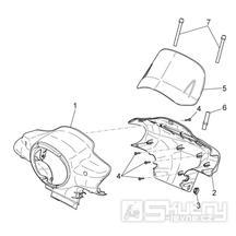 28.05 Kapotáž předního světla - Scarabeo 50 4T 4V E2 2010-2012 (ZD4TGE00)