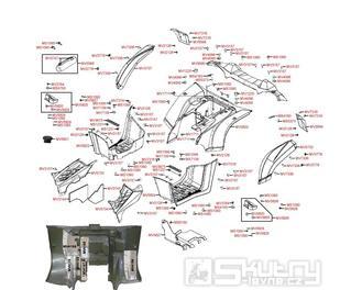 F12 Zadní kapotáž - Kymco MXU 500 IRS DX LOF LAA0ED
