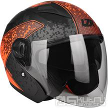 Přilba Lazer JH-1 Road Tech Black/Red Fluo