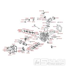 E02 Hlava válce a kryt ventilů - Kymco People GT 300i