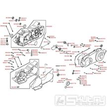 E01 Kliková skříň / Kryt variátoru - Kymco MXU 150