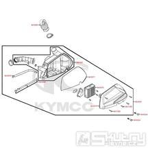 F13 Vzduchový filtr / Airbox - Kymco DJ 125 S KN25GA
