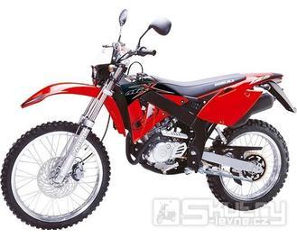 Rieju MRX 125 - barva červená