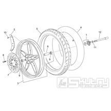 28.26 Přední kolo, přední brzda - Scarabeo 50 2T (motor Minarelli) 1998 - ZD4PF00/1/2/3, ZD4PFA/B/C/D/E