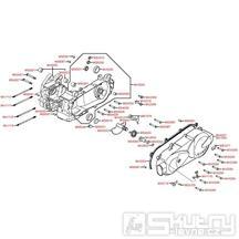 E01 Kliková skříň kompletní / Kryt variátoru - Kymco Agility 125