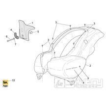 28.12 Zadní kapotáž - Scarabeo 100 4T E3 2006-2009 (ZD4VAA..., ZD4VAC...)