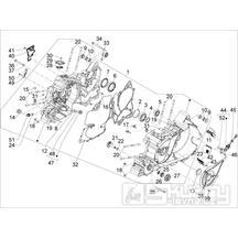 1.05 Skříň klikové hřídele - Gilera GP 800 2009-2011 (ZAPM5510...)