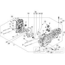 """1.05 Skříň klikové hřídele - Gilera Runner 125 """"SC"""" VX 4T 2006-2007 (ZAPM46100)"""