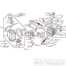 E02 Hlava válce / ventily - Kymco Agility 50 RS 4T KG10S
