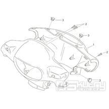 28.06 Kapotáž tachometru - Scarabeo 100 2T (motor Minarelli) 2000 - ZD4REA...