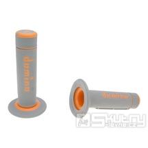 Gripy Domino A020 Off-Road v šedo-oranžovém provedení o délce 118mm
