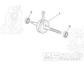 29.30 Kliková hřídel - Scarabeo 50 4T 4V NET 2009 (ZD4TGE00)