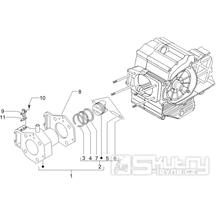 1.07 Válec a píst - Gilera Fuoco 500ccm 4T-4V ie E3 LT od 2013 (ZAPM83100...)