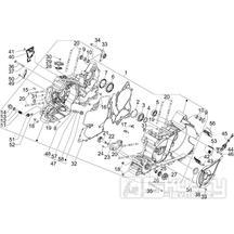 1.05 Skříň klikové hřídele -  Gilera GP 800 2009 (edice 100. výročí - ZAPM5510...)