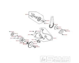 E06 Startér a olejové čerpadlo - Kymco Super 8 125 [Big Tyre] KL25SF