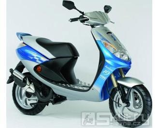 Peugeot Vivacity Motosport 50 - barva modrá/stříbrná