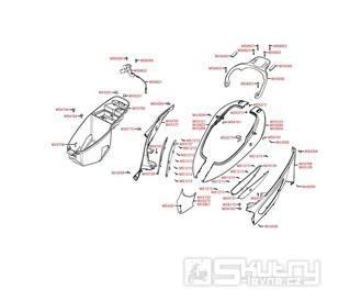 F13 Zadní kapotáž / Úložný prostor pro přilbu - Kymco Dink 50