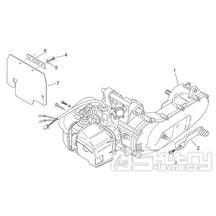29.24 Motor, nakopávací páka - Scarabeo 50 2T (motor Minarelli) 1998 - ZD4PF00/1/2/3, ZD4PFA/B/C/D/E