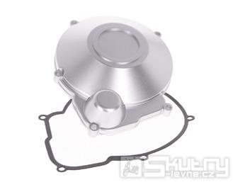 Kryt zapalování pro motory Minarelli AM6 ve stříbrné barvě