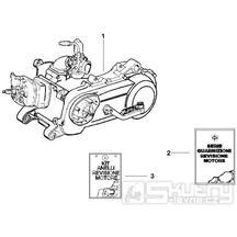 1.02 Motor, těsnění motoru - Gilera Runner 50 SP 2005 UK (ZAPC461000)