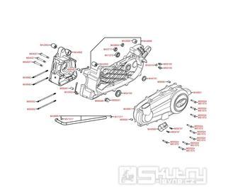 E01 Kryt ventilátoru / Skříň klikové hřídele - Kymco People S 300i