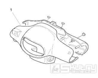 28.03 Kapotáž předního světla - Scarabeo 50 2T (motor Minarelli) 1993-1997 - 072, 081, 081P1, 092, 094