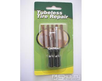 Sada pro zalepení průpichu bezdušové pneumatiky