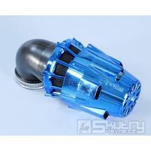 Modře chromovaný vzduchový filtr Polini - 90°, Ø 32 mm