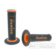 Gripy Domino A190 Off-Road v černo-oranžovém provedení o délce 118mm