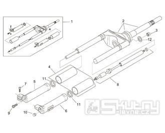 28.03 Přední vidlice - Scarabeo 100 2T (motor Yamaha) 2000 - ZD4RE0...