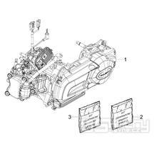 1.02 Motor, těsnění motoru - Gilera Nexus 300ie 4T LC 2009-2011 (ZAPM35600)