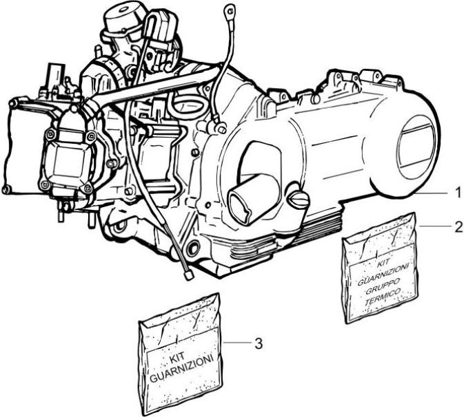1.02 Motor, těsnění motoru - Gilera Runner 200 VXR 4T LC Race 2005-2006 (ZAPM46200)