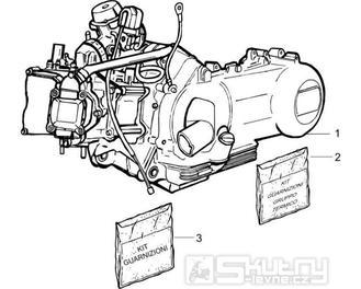 1.02 Motor, těsnění motoru - Gilera Runner 200 VXR 4T LC 2005-2006 (ZAPM46200)