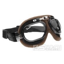 Motocyklové brýle Vespa Vintage Rider - hnědé