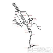F04 Hlavní brzdový válec přední - Kymco Vitality 50 2T