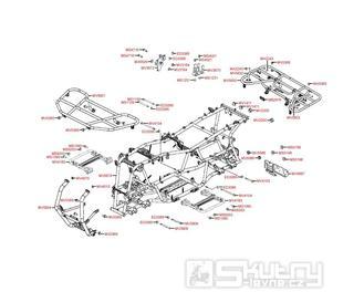 F22 Rám a nosič - Kymco MXU 500 IRS DX LOF LAA0ED