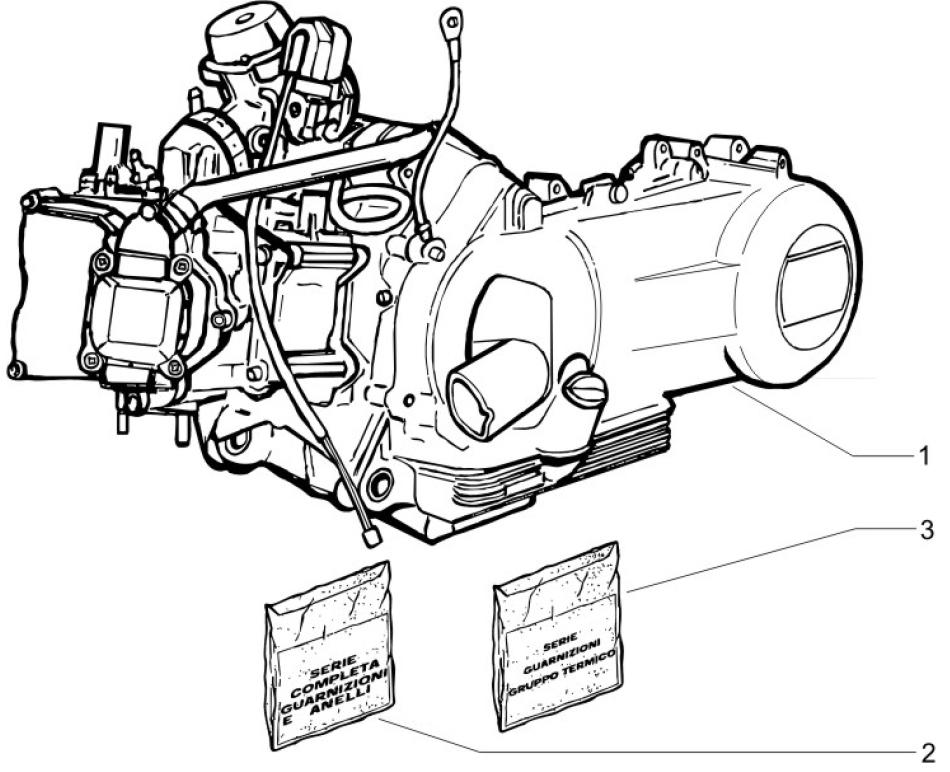 1.02 Motor, těsnění motoru - Gilera Runner 125 VX 4T Race 2005 (ZAPM46100)