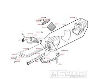 F13 Vzduchový filtr - Kymco Xciting 500i [AFI]