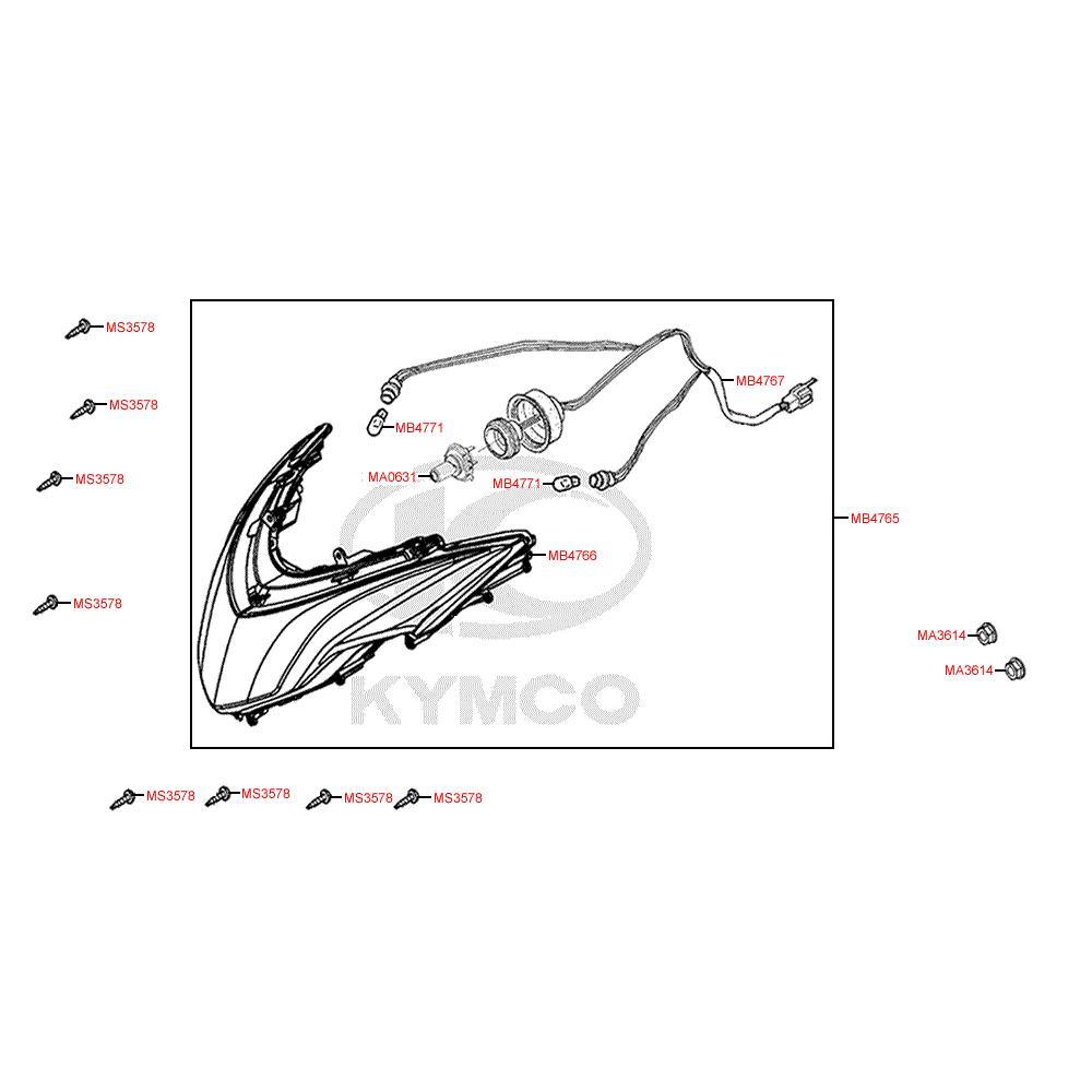 F01 Přední světlo - Kymco Grand Dink 125i SP25AA